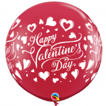 3ft Giant Balloons -  Red (Valentines Day) 3ft Balloon 2pc